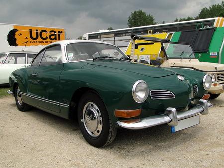 VOLKSWAGEN Karmann Ghia Coupe 1970 1972 Retro meus Auto Lac de Madine 2010 1