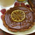 Anniv' de rencontre: tartelette brune au citron