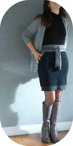 jupe velours noir