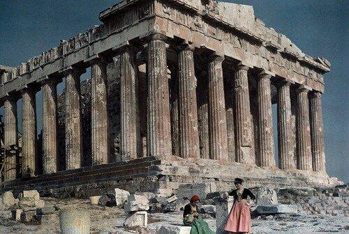 parthenon grece 1930