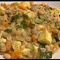Fricassé de haricot blanc et omelette