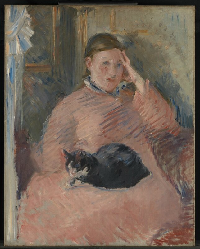 Edouard Manet, 'Woman with a Cat', about 1880-2