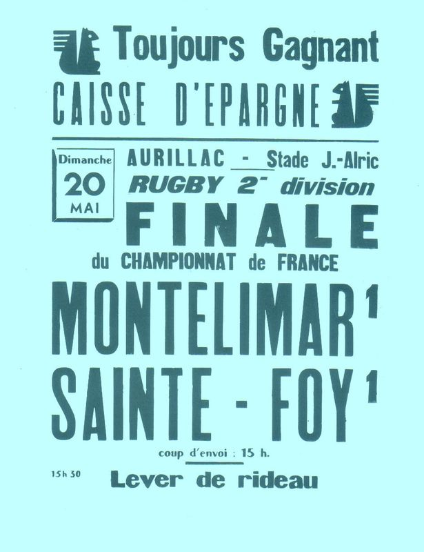 L'affiche de la finale