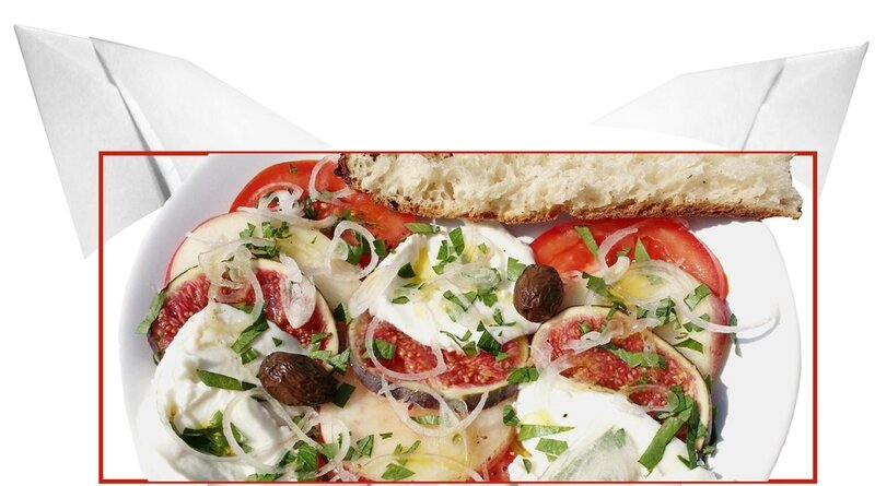 Entr e fra cheur figues mozzarella martine bichonne son menu for Entree vite faite