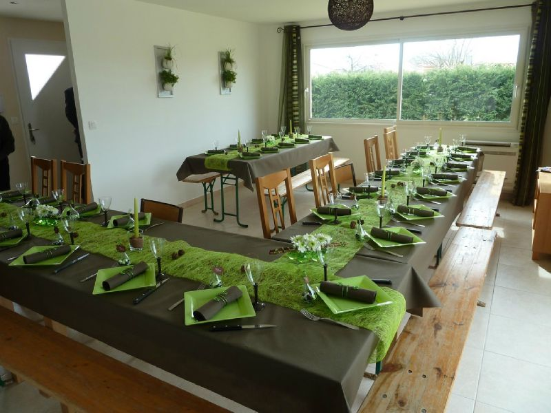 Decoration De Table Gris Et Vert Anis