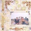 Entre Virge et moi se trouve Aïcha, chamelle émérite et spécialisée dans les séances photo. Marrakech, Août 2001