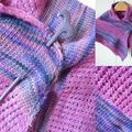 Textured shawl en Malabrigo et Koigu