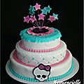 Gâteau à étages monster high