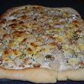 Pizza aux noix de saint-jacques et champignons