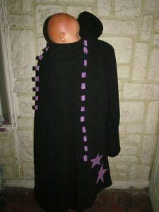 manteau de portage 3 en 1 noir et violet lacage étoile (12)