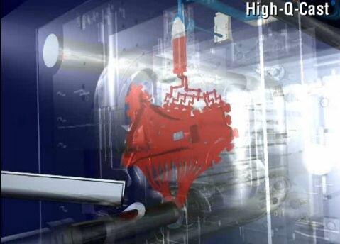high Q cast BDW alcan vacuum die casting welding porosity level audi structural parts