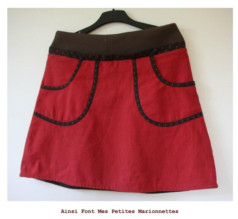 jupe grossesse rouge 1