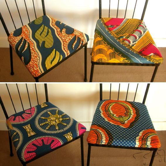 tissu africain pour fauteuil