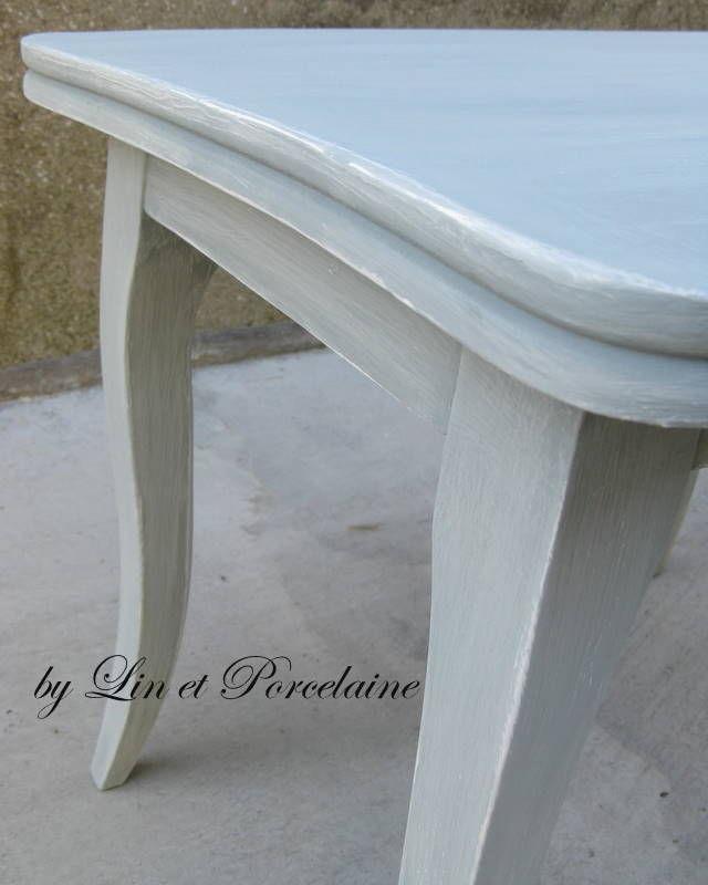 le relooking de ma p 39 tite table ancienne lin et porcelaine. Black Bedroom Furniture Sets. Home Design Ideas
