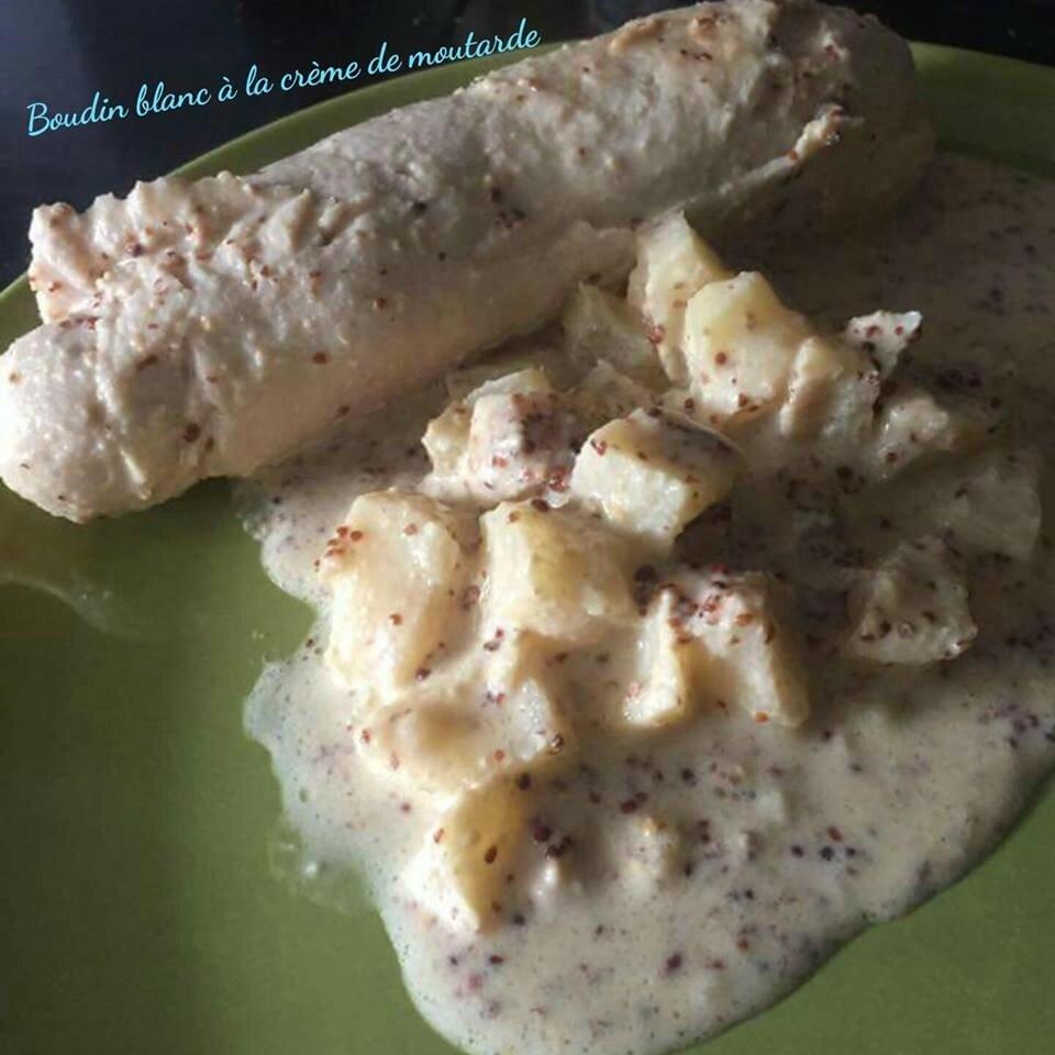 Boudin blanc à la crème de moutarde