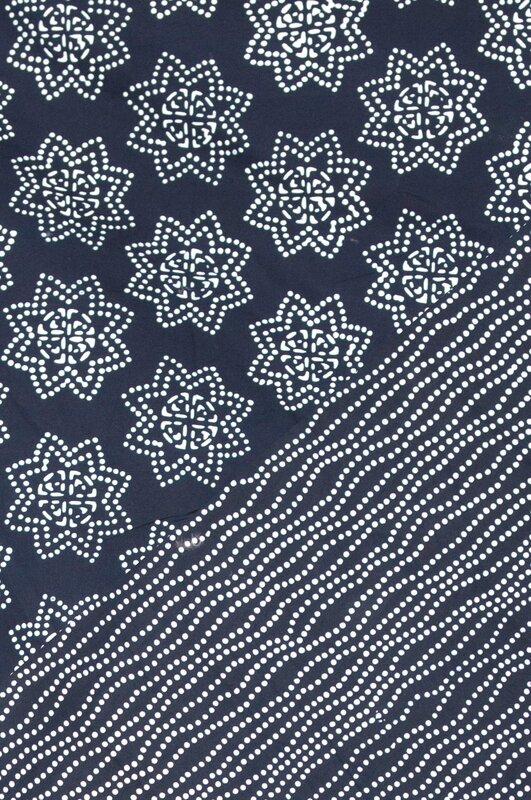 détail plaid étoile japonaise
