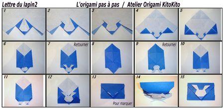 enveloppe du lapin l 39 origami pas pas atelier origami. Black Bedroom Furniture Sets. Home Design Ideas