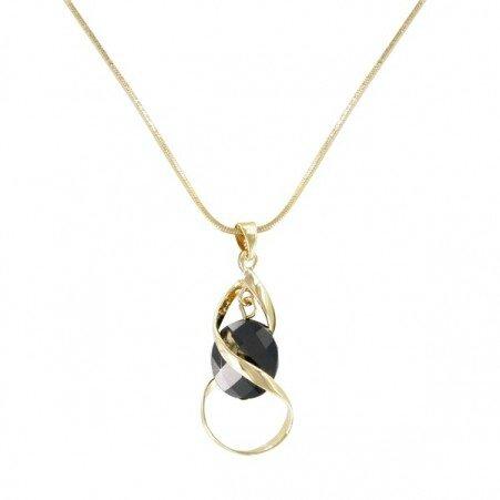 collier-plaque-or-sabine-noire