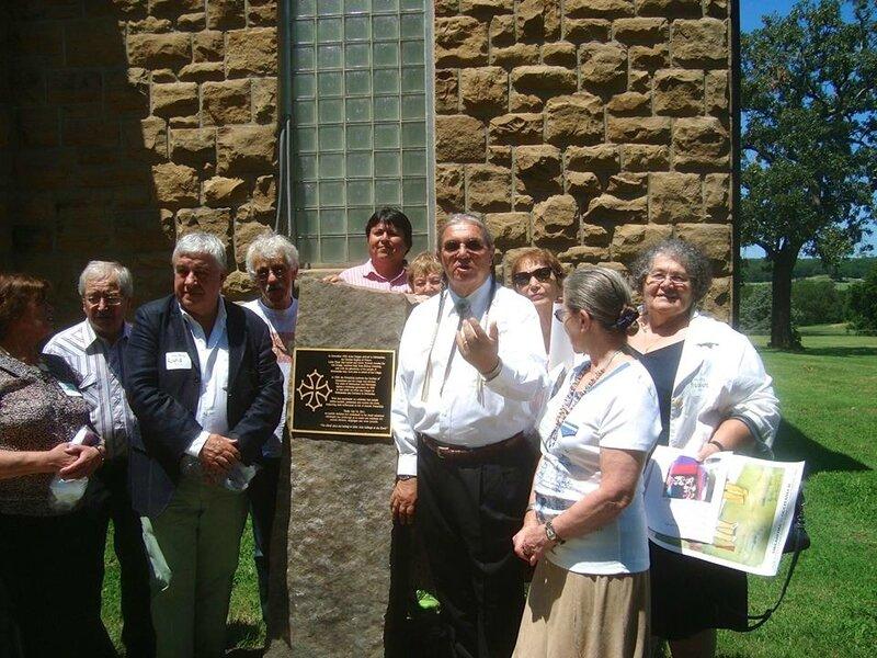 Pawhuska, 2013 -- inauguration de la croix occitane