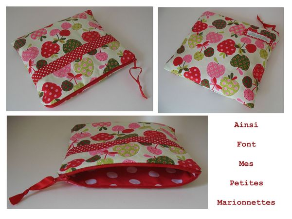 pochette fruit pois rouge 1