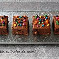 Brownies au chocolat et au caramel