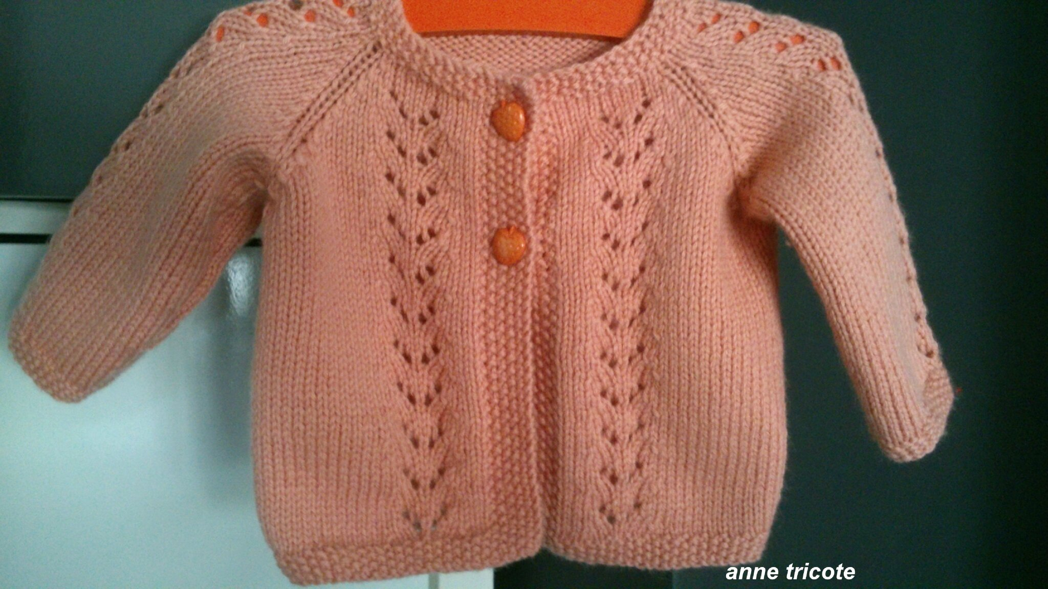 gilet fille 2 ans tricot