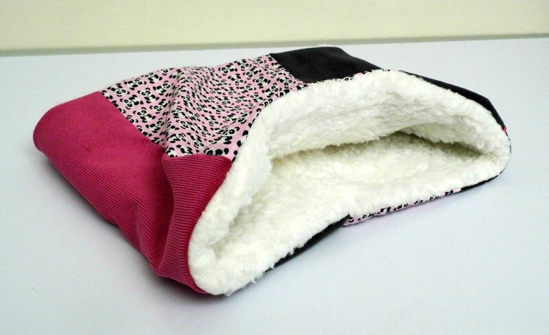 Snood patch panda interieur