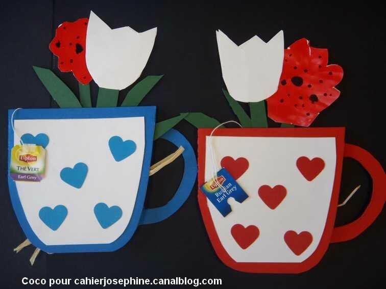 Pour la f te des m res offrez une tasse de th les cahiers de jos phine - Tasse fete des peres ...