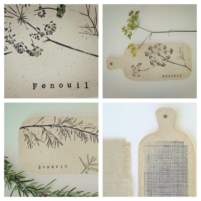 Planchettes argile & barbotine