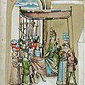 1464 ca Ulrich RICHENTAL Konstanzer Kronik - procession du pape dans la ville fol 103v