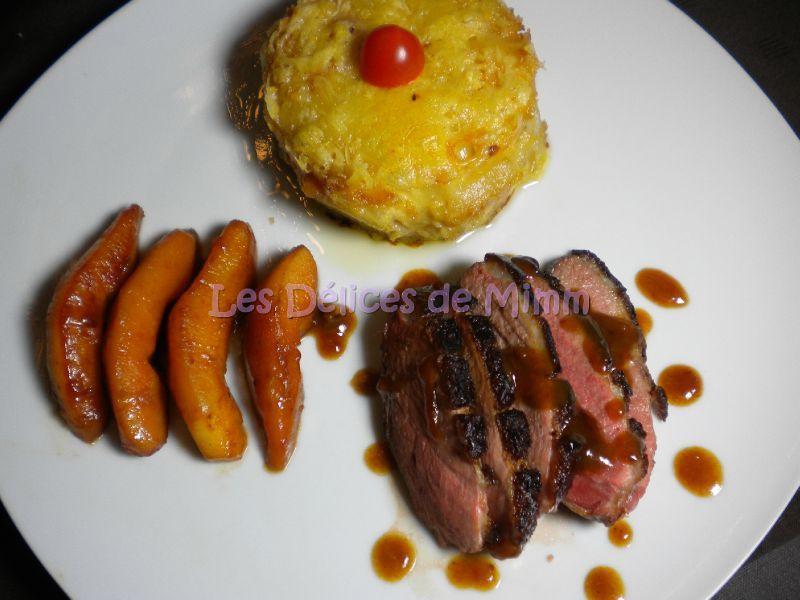 Magret de canard l 39 orange et aux coings les d lices de mimm - Cuisiner un magret de canard a la poele ...