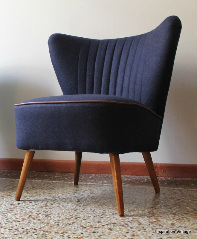 Fauteuils Cocktail Navy Blue Ice Inspiration Vintage
