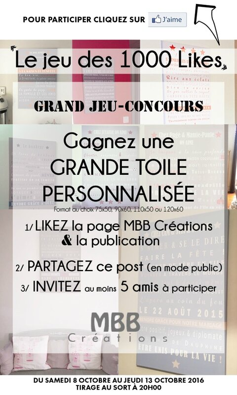 Jeu-concours 1000 likes MBB Créations insta