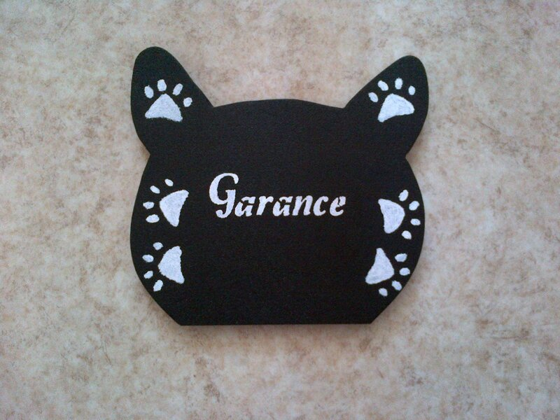 porte clefs forme chat