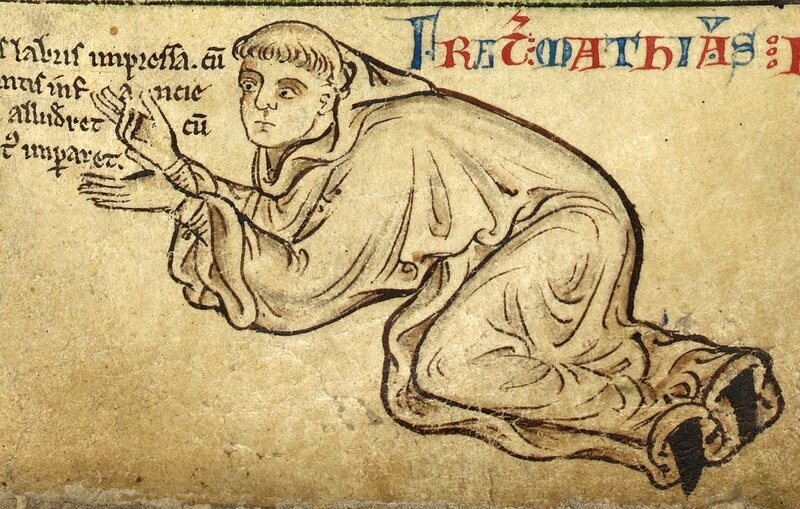 Robert de Abrissel Illustration from London, British Library, MS Royal 14