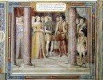 Mariage de Diane de France sur une fresque du palais Farnèse