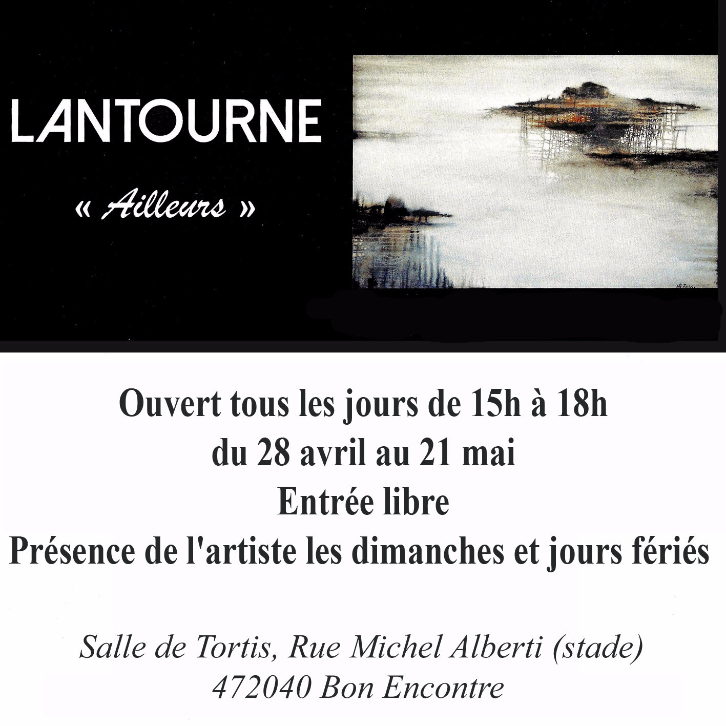 LANTOURNE : Un Peintre en mai à Bon Encontre (47)