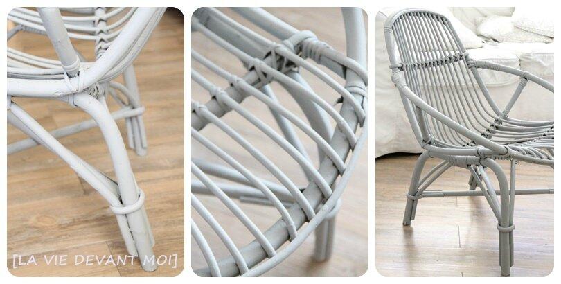 charming repeindre un fauteuil en rotin #8: passage du rouleau
