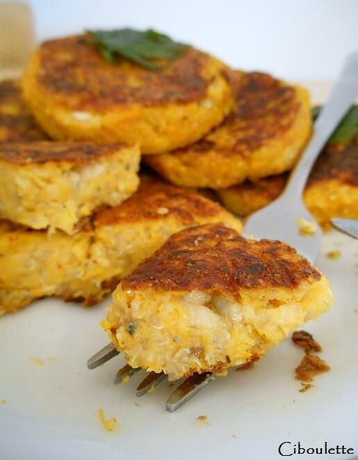Palets de courge butternut au roquefort & au quinoa 2