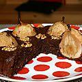 Fondant au chocolat poires et noix