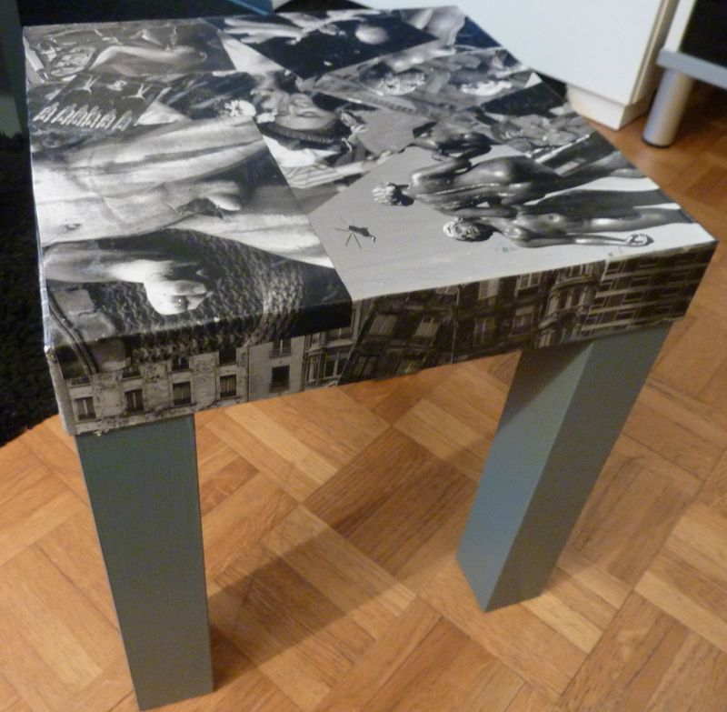 Tables basses gigognes customis e avec des photos de for Decopatch meuble
