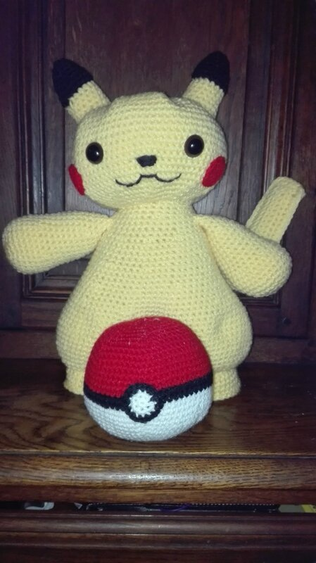 pikachu et sa pockey ball aaraon
