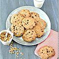 Cookies à la farine d'épeautre, au muesli et au chocolat