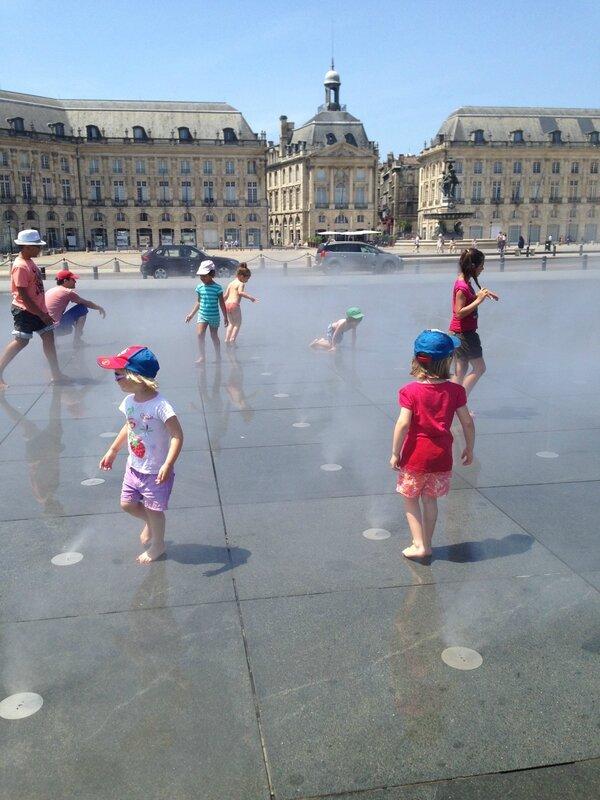 Miroir d'eau, place de la Bourse, Bordeaux