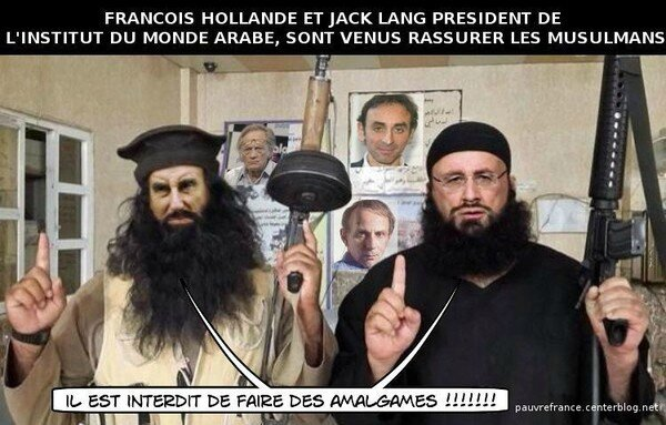ps hollande lang humour islamiste ccm