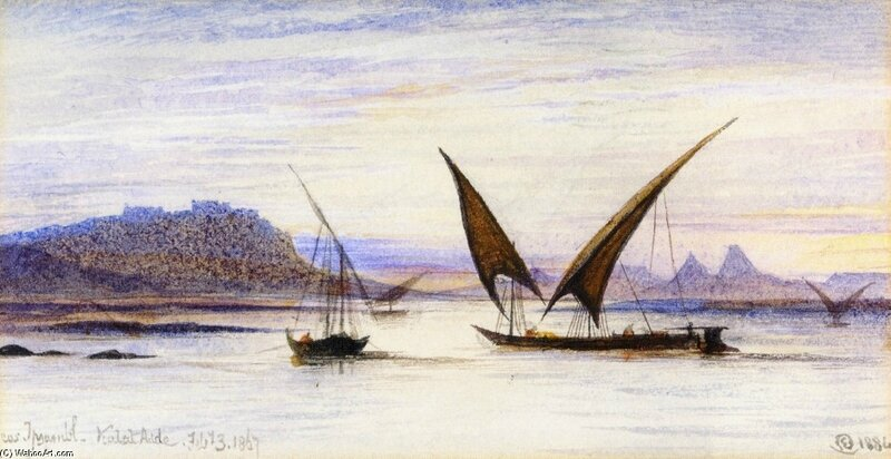 170518 EDWARD-LEAR-FELUCCAS-ON-THE-NILE-NEAR-ABU-SIMBEL