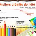 Ateliers créatifs de l'été 2014