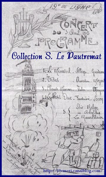 Concert 3 avril 1915