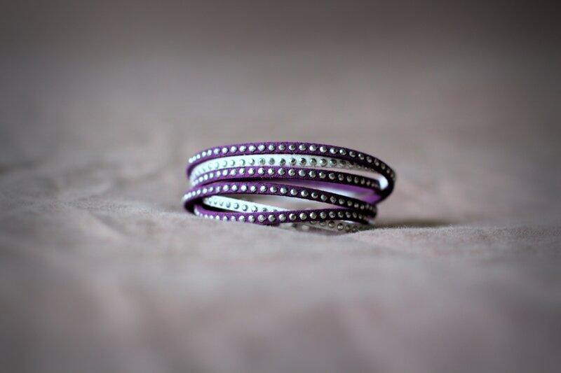 bracelet 2 tours blanc et violet_04