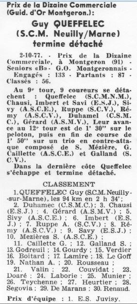1977 le 2 octobre Montgeron